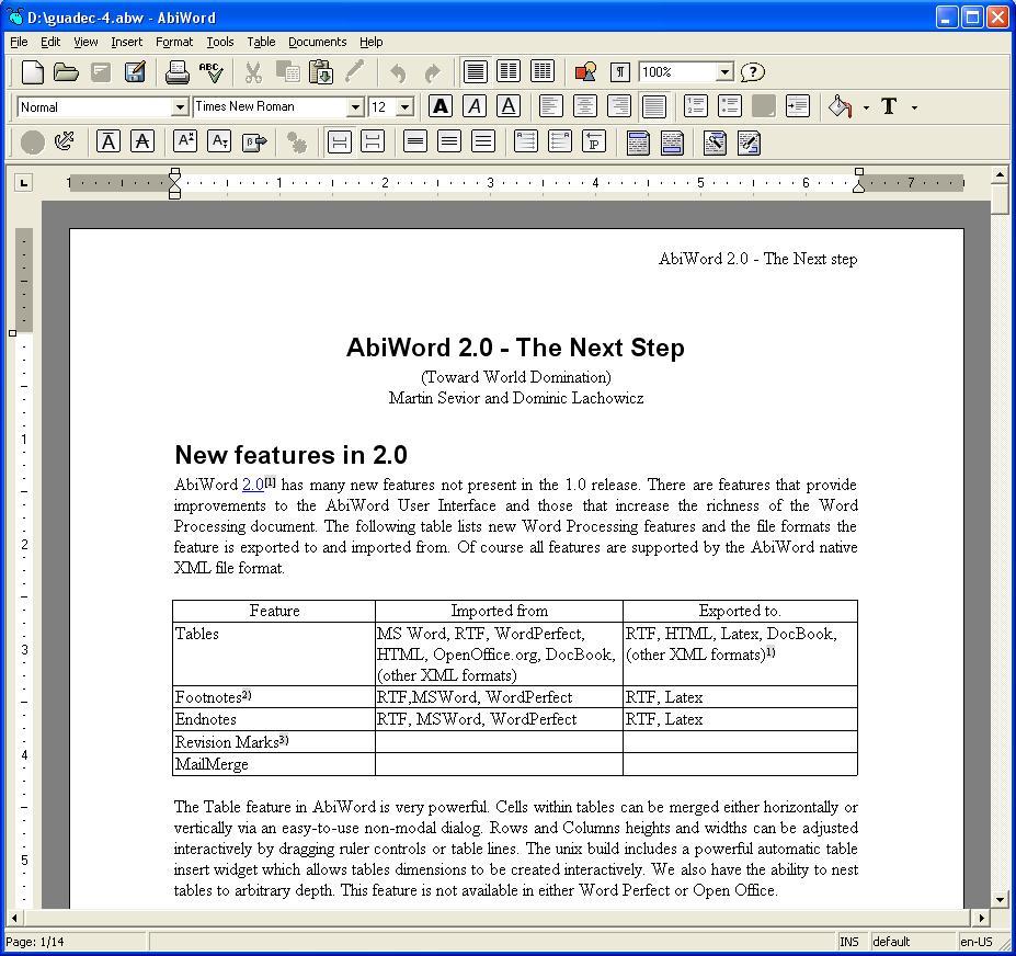 AbiWord – tekstitöötlusprogramm