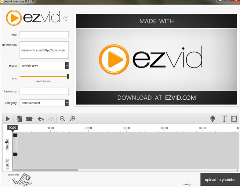 Ezvid – videotöötlus