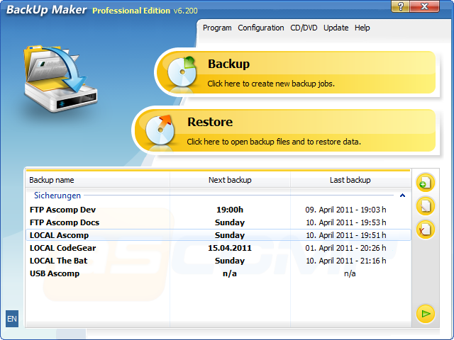 Backup maker – andmete varundamine