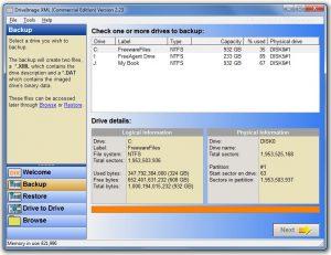 DriveImage XML backup